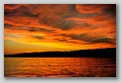 Orcas Island picture. Sunset         View